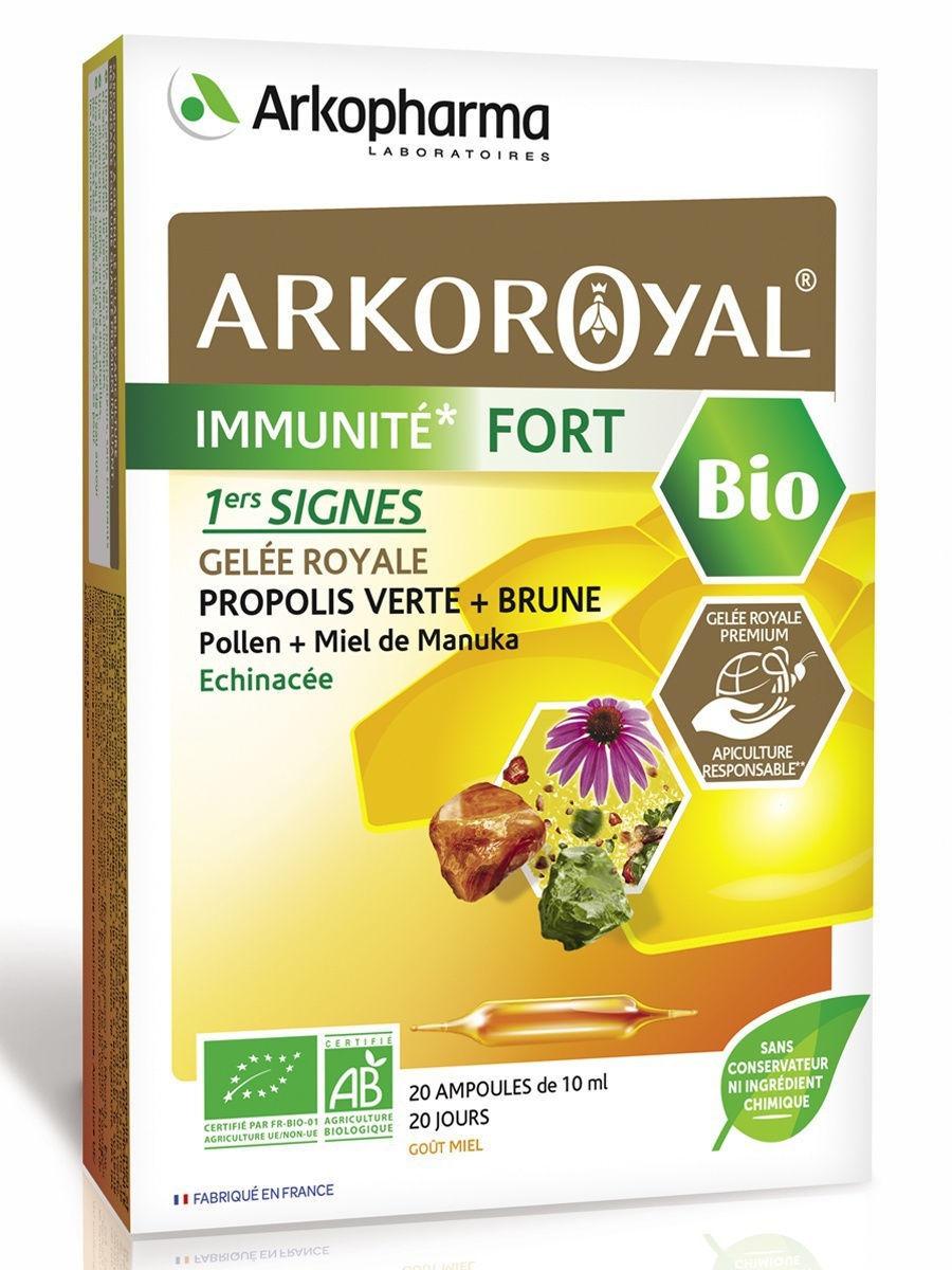 Купить Arkoroyal Immunite Fort, Аркоруаяль Иммуните Фор Arkopharma Иммунитет 10 мл ампулы 20 шт.