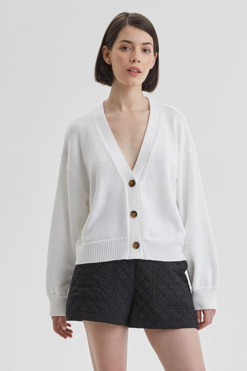 Кардиган женский AIM Clothing C-761-ctn-014 белый 40-46 RU