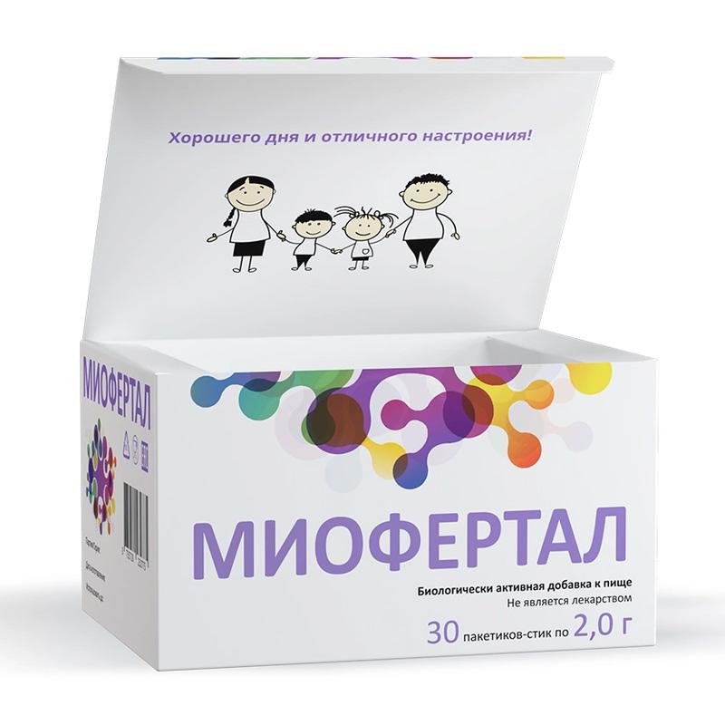 Купить Миофертал порошок для приема внутрь 2 г пакетики-стик, 30 шт., Sochim International