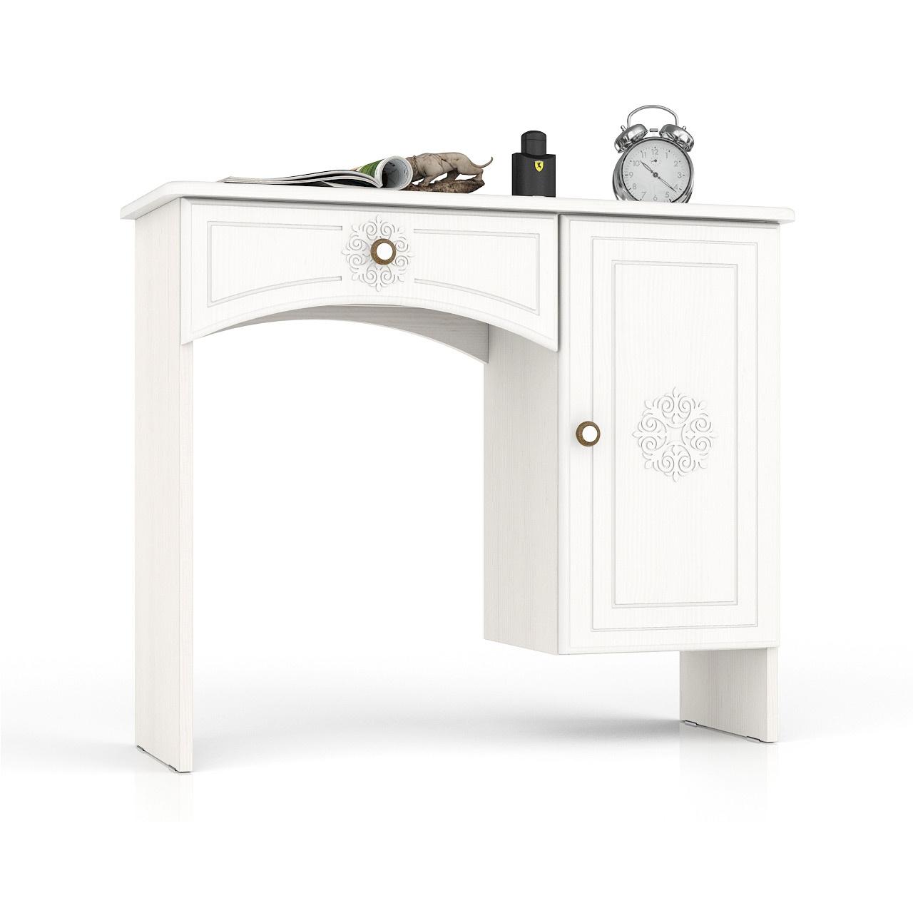 Туалетный столик Мебельный Двор Онега ТС-1 белый 90х31х75 фото