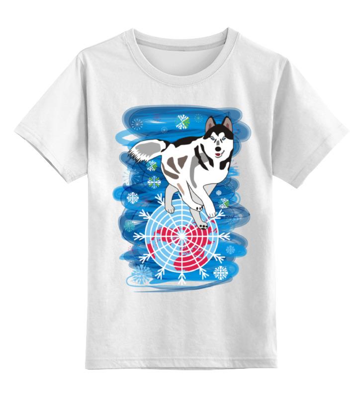 Детская футболка Printio Бегущая по снегам цв.белый р.104 0000002348610 по цене 790