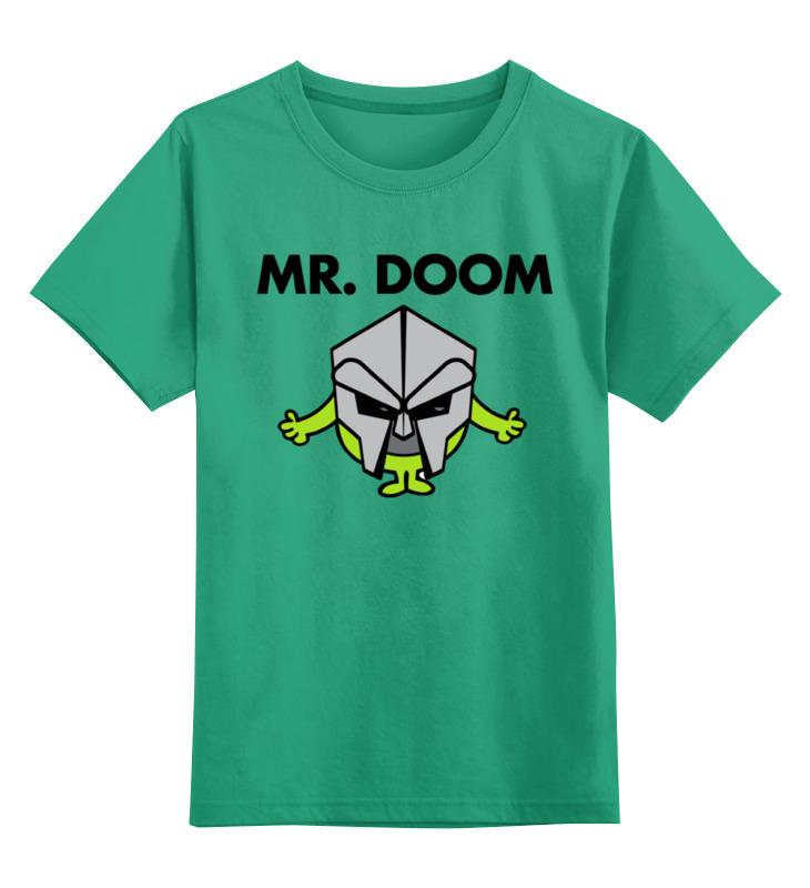 Купить 0000002349195, Детская футболка Printio Мистер дум цв.зеленый р.104,