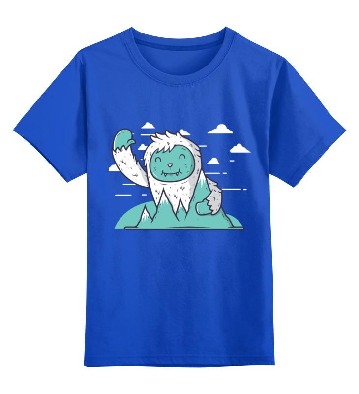 Купить 0000002419662, Детская футболка Printio Снежный человек цв.синий р.104,