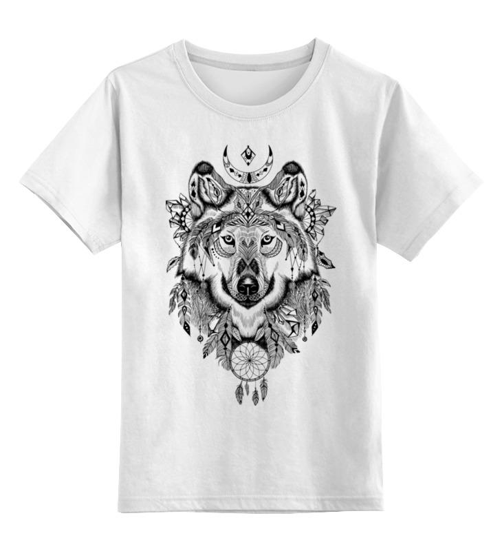 Детская футболка Printio Тотем. волк цв.белый р.104 0000002425163 по цене 790
