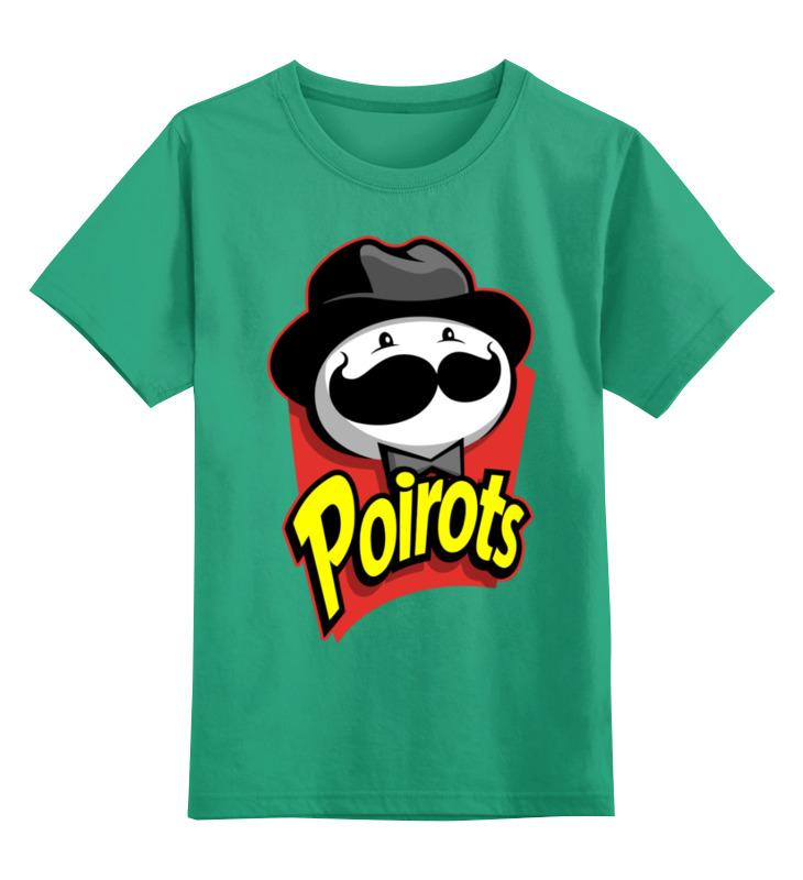 Купить 0000002439981, Детская футболка Printio Pringles цв.зеленый р.104,