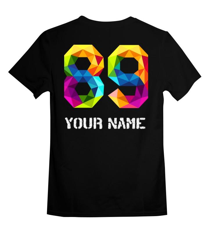 Купить 0000002479775, Детская футболка Printio Your name цв.черный р.104,