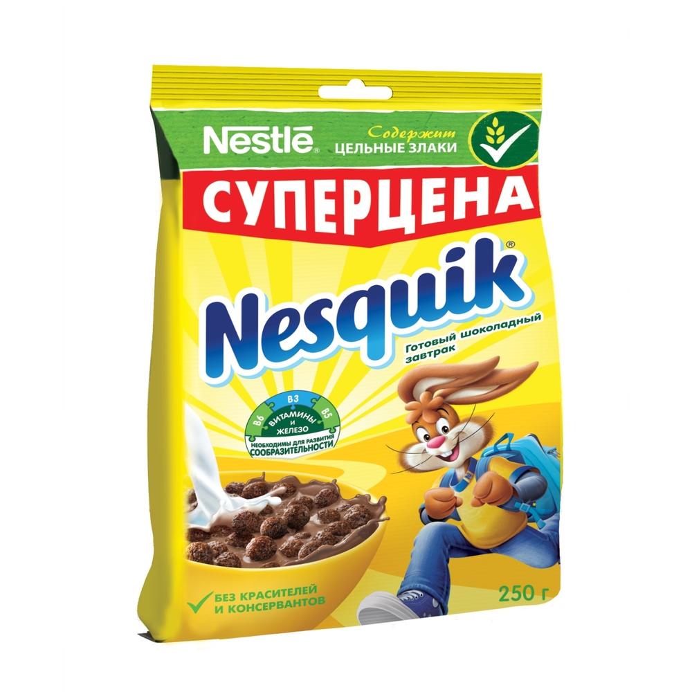 Готовый завтрак шоколадный Nesquik шарики 250 г фото