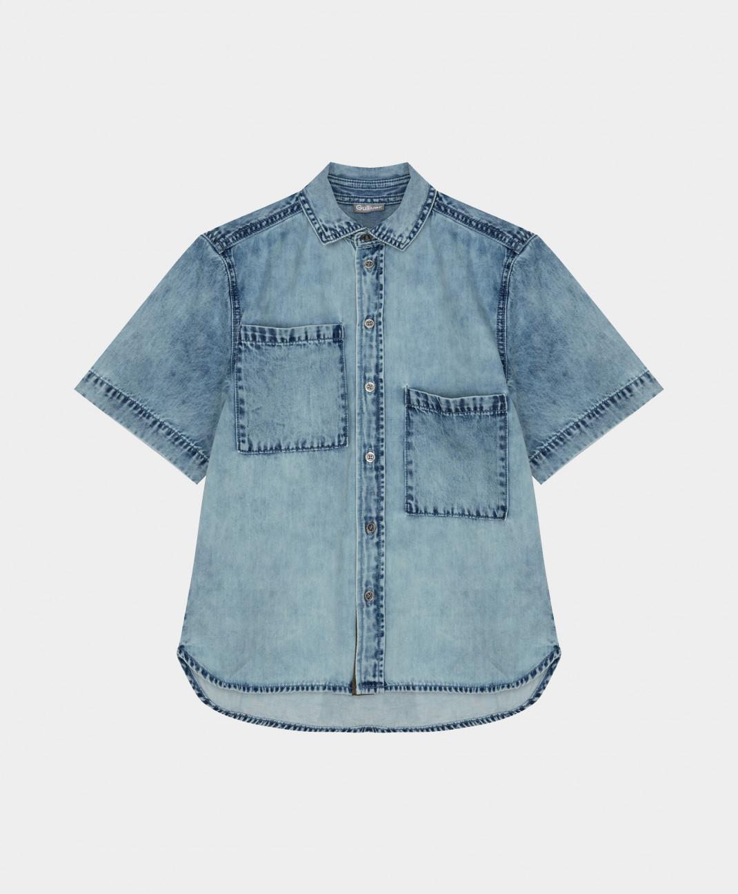 Рубашка Gulliver джинсовая 12111BJC2303 р.164