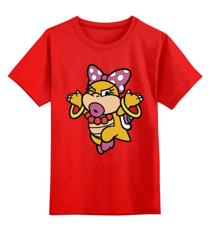 Купить 0000002324945, Детская футболка Printio Боузер цв.красный р.104,