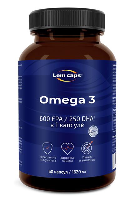 Купить Омега-3 950 мг Lemcaps 600 ЭПК / 250 ДГК капсулы 60 шт.