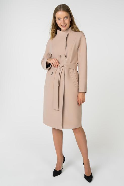 Пальто-халат женское ElectraStyle 3-8108-128 коричневое 50