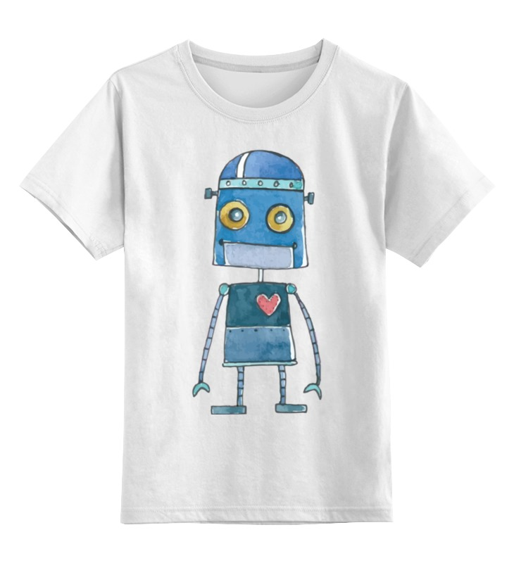 Детская футболка Printio Робот цв.белый р.104 0000002487116 по цене 790