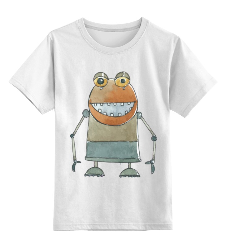 Детская футболка Printio Робот цв.белый р.104 0000002487121 по цене 790
