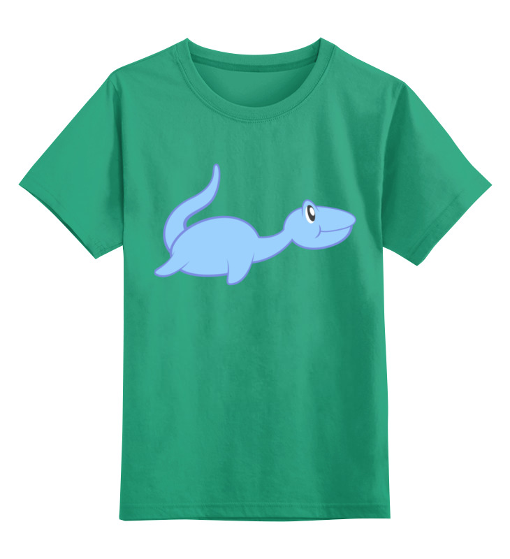 Купить 0000002493688, Детская футболка Printio Динозаврик цв.зеленый р.104,