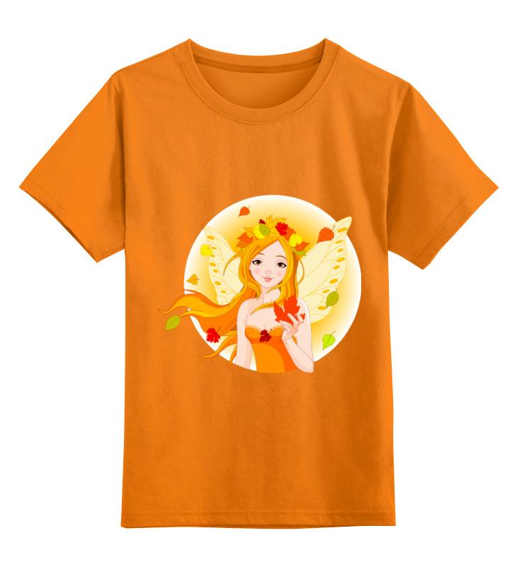 Детская футболка Printio Девочка - осень цв.оранжевый р.104 0000002549605 по цене 990
