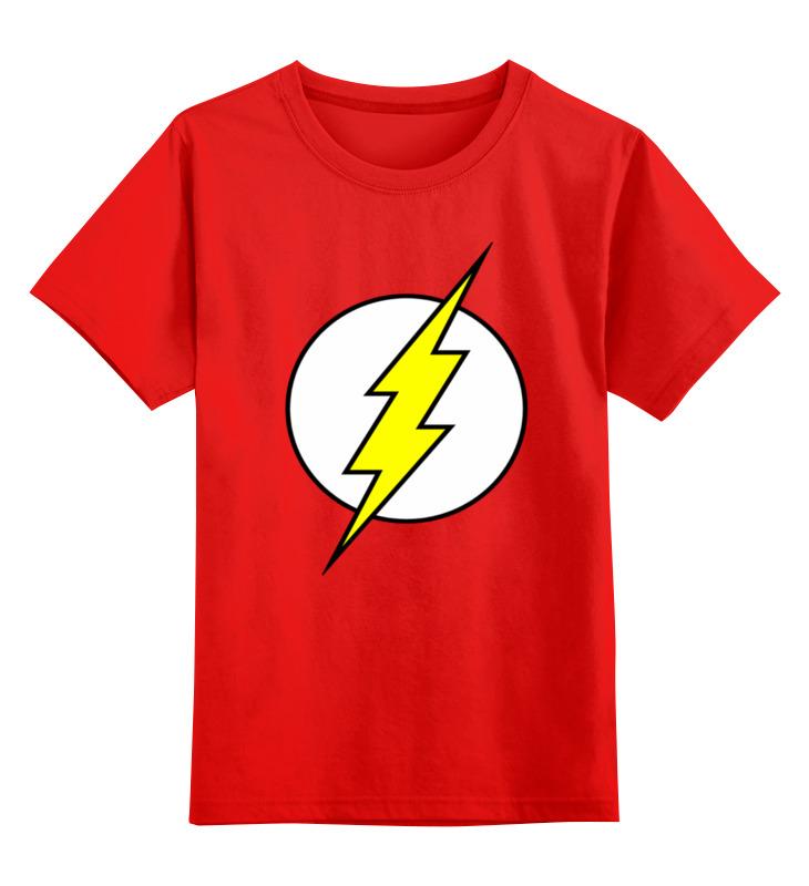 Купить 0000002346818, Детская футболка Printio Флеш цв.красный р.164,