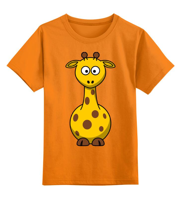 Детская футболка Printio Жираф цв.оранжевый р.164 0000002347976 по цене 990