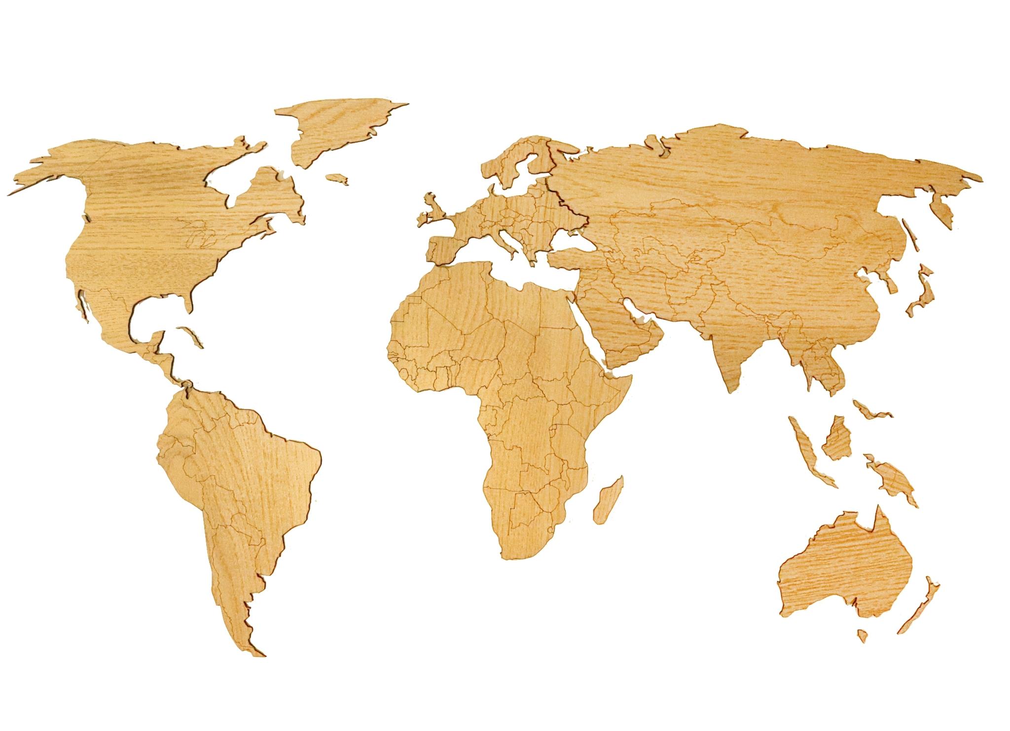 Деревянная карта мира AFI DESIGN 80х40