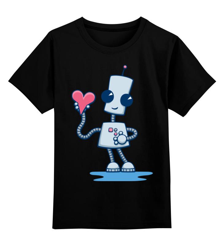 Детская футболка Printio Робот цв.черный р.164 0000002433249 по цене 990