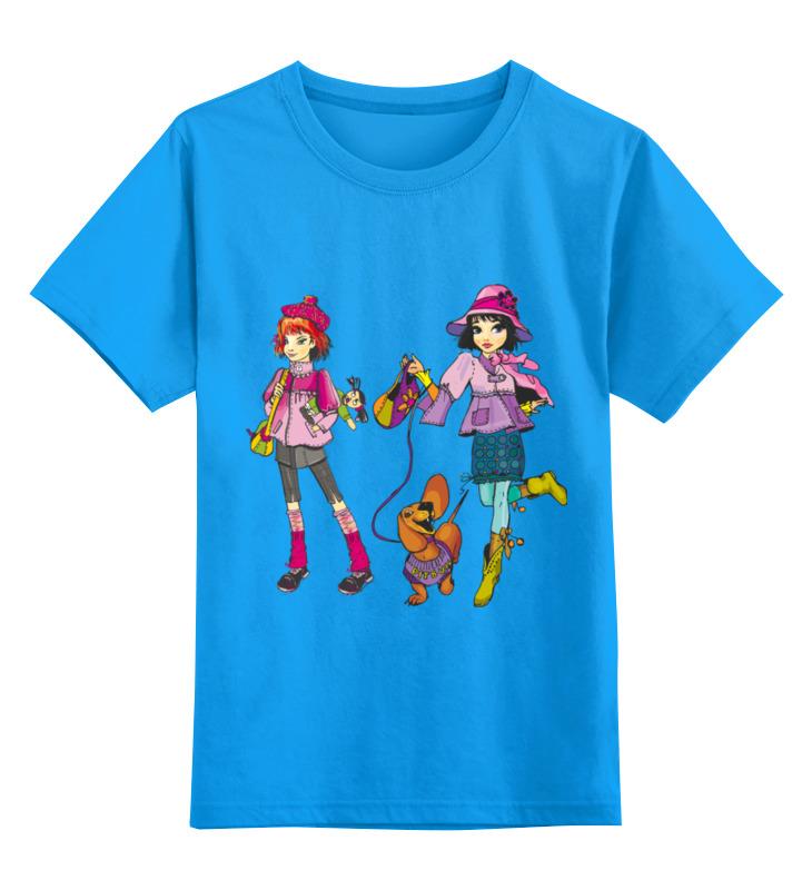 Детская футболка Printio Школьницы цв.голубой р.164 0000002518293 по цене 990