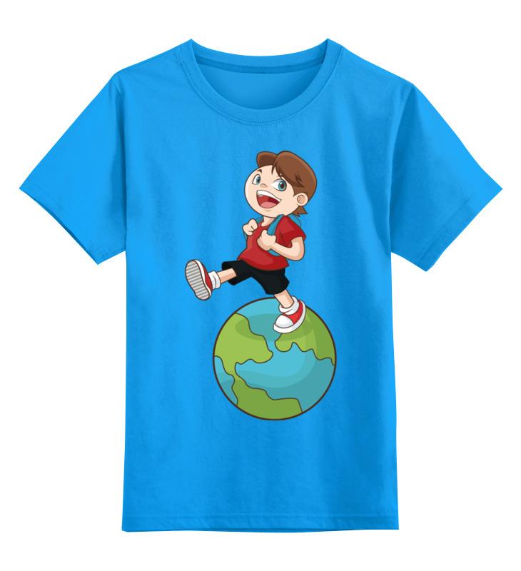 Купить 0000002529509, Детская футболка Printio Школа цв.голубой р.164,