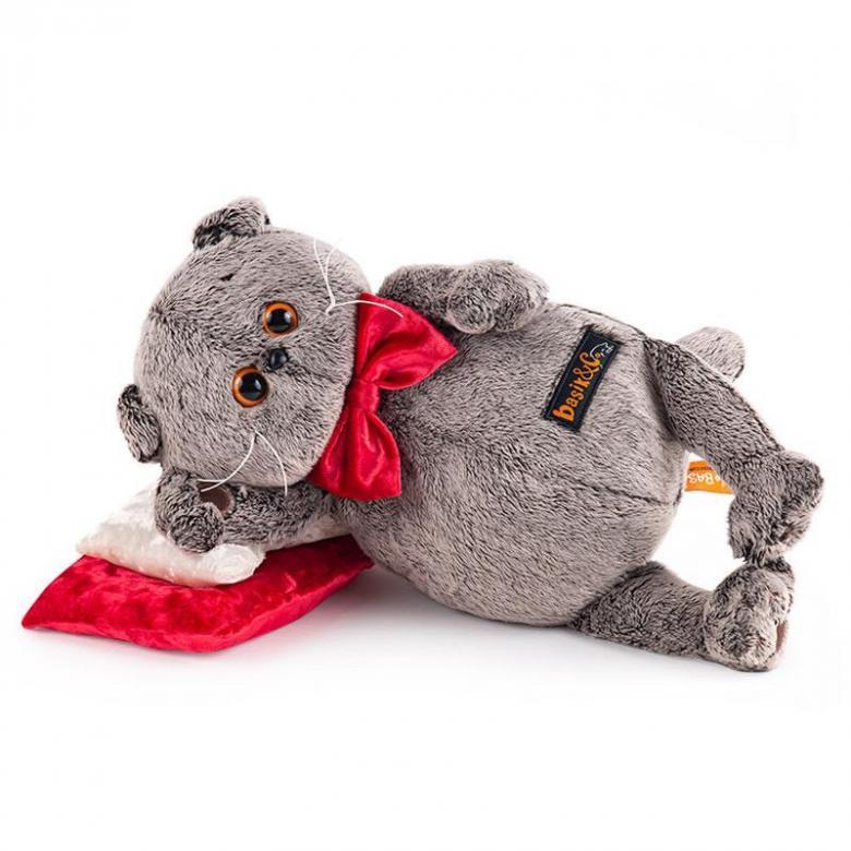 Мягкая игрушка BUDI BASA Басик на бархатной подушке, 18 см