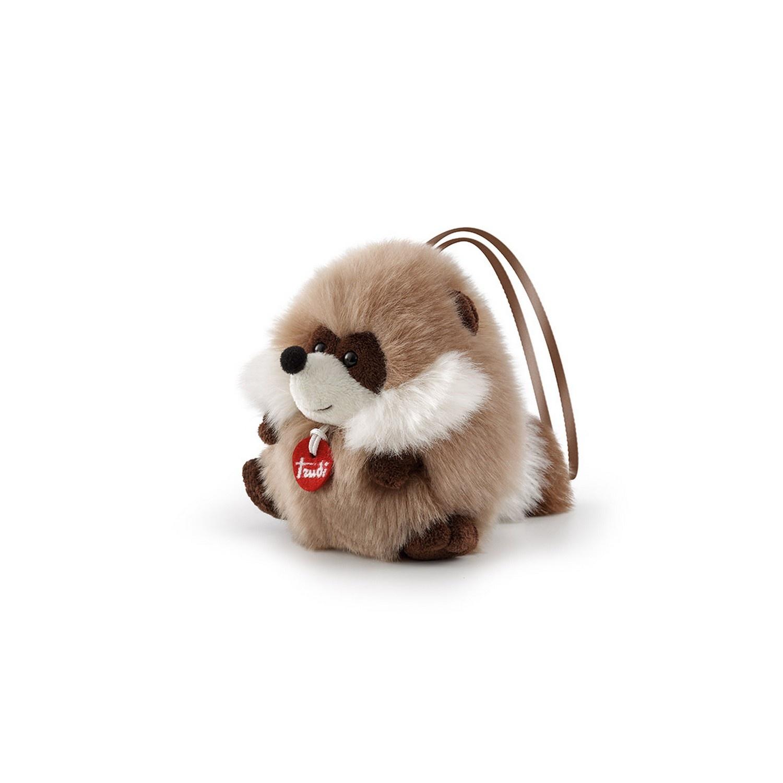 Купить Мягкая игрушка Trudi Енот-пушистик на веревочке, 13 см, Мягкие игрушки животные