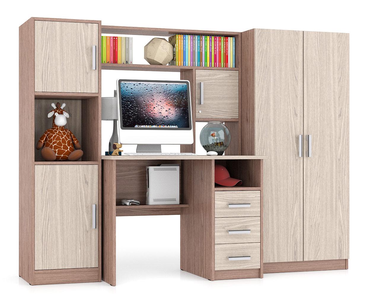 Компьютерный стол Мебельный Двор СК 9, ясень