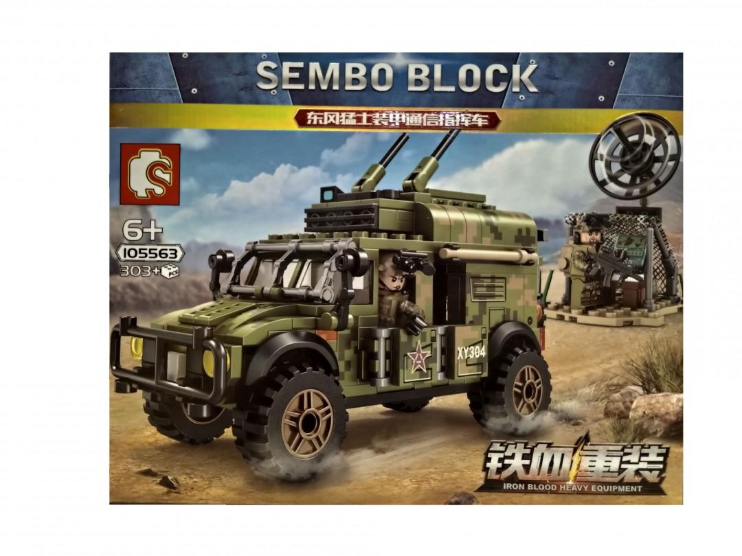 Конструктор Sembo 105563 Бронеавтомобиль Dongfeng Warrior и узел связи,  - купить со скидкой