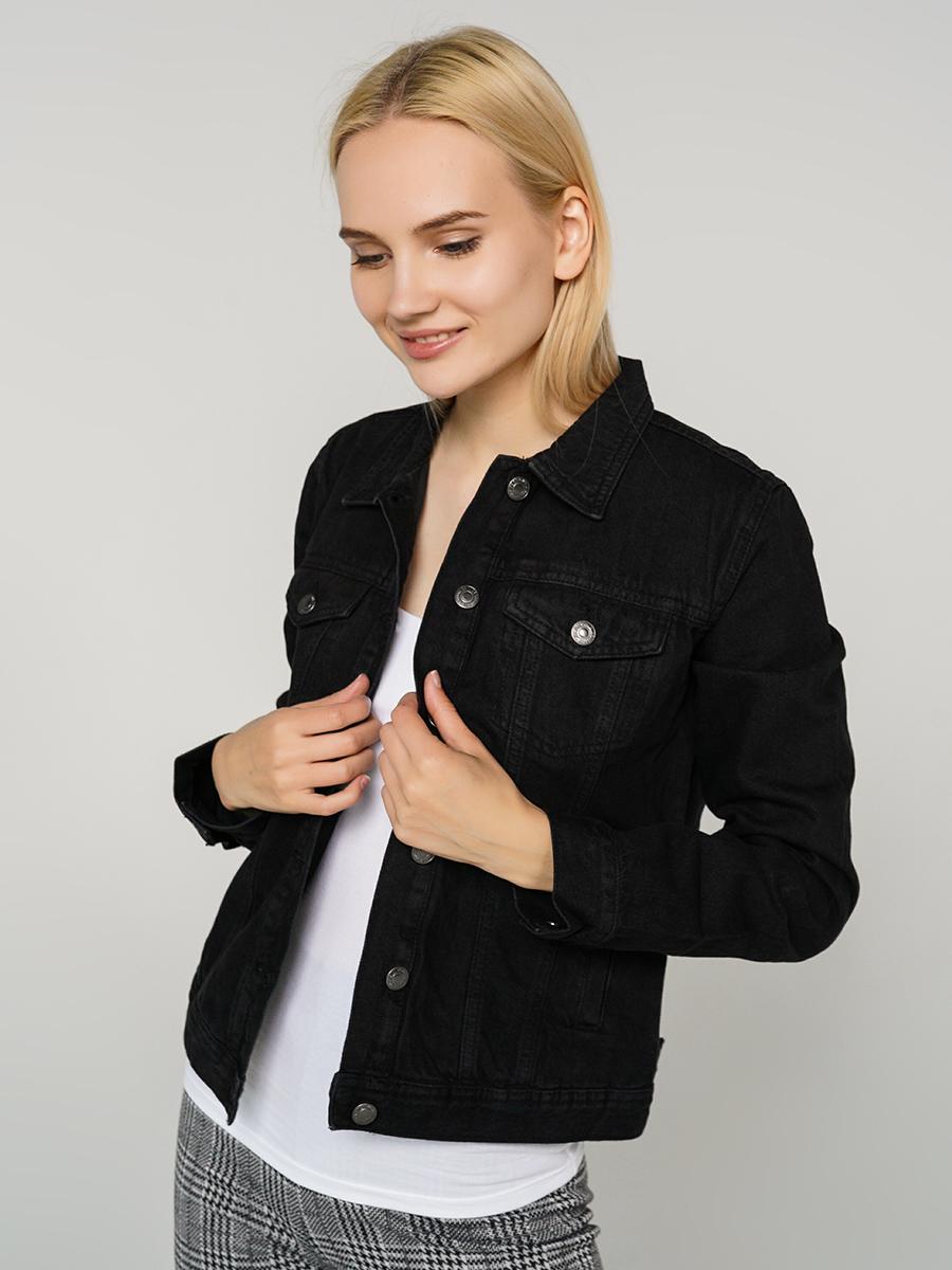 Джинсовая куртка женская ТВОЕ A6594 черная XL