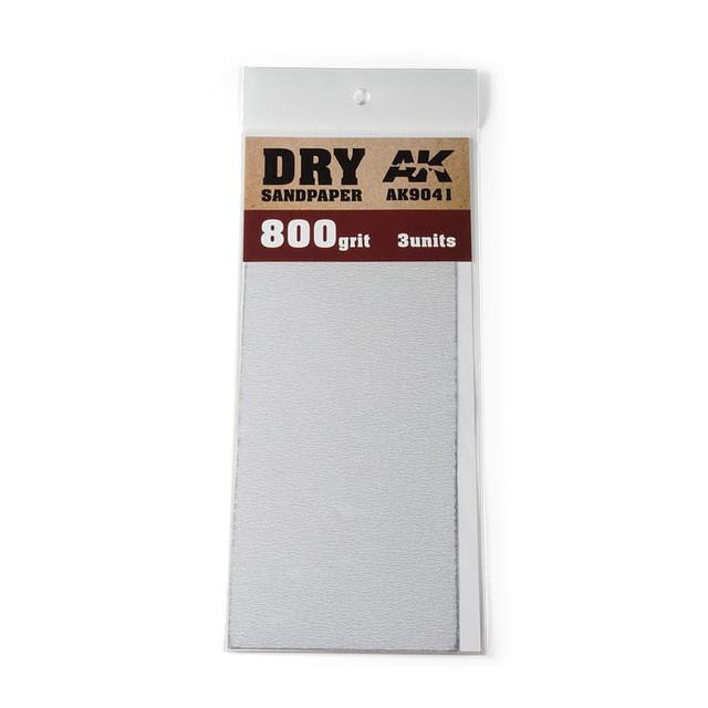 Купить Комплект наждачной бумаги AK Interactive 3 шт. для сухого шлифования AK9041,