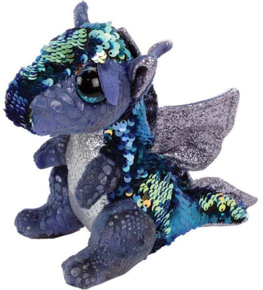 Купить Мягкая игрушка Ty Inc дракон с пайетками, 25 см,