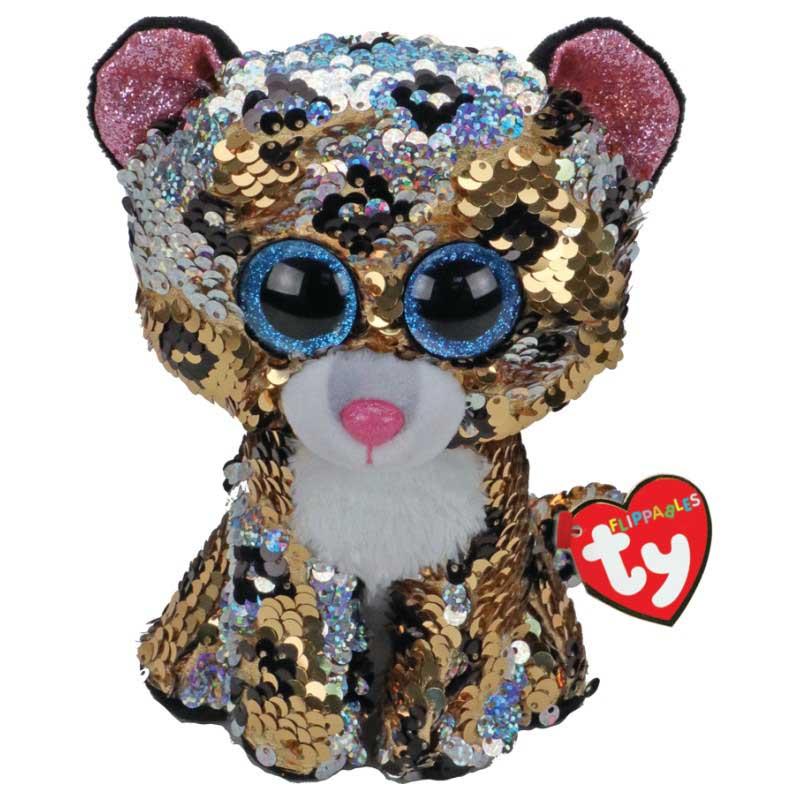 Купить Мягкая игрушка Ty Inc Леопард с пайетками, 25 см,