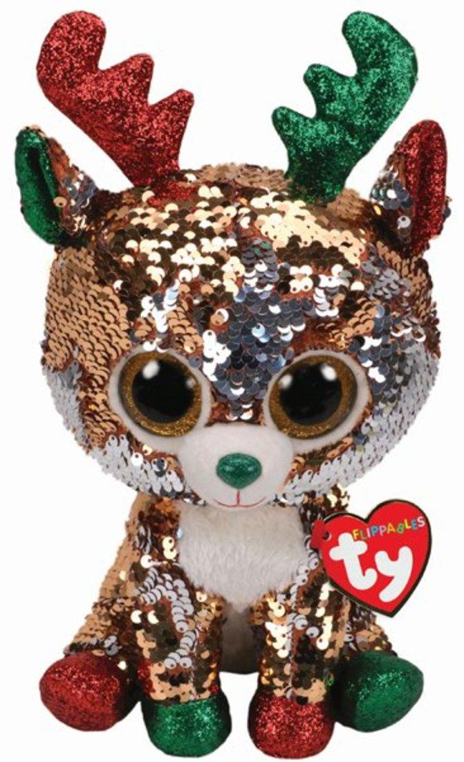 Купить Мягкая игрушка Ty Inc Тэган северный олень с пайетками, 25 см,