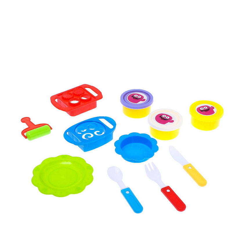 Купить Набор для игры с пластилином Эврики Шеф-повар, с тарелочками, Лепка