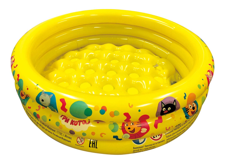 надувной бассейн 70*24см Три Кота с надувным дном