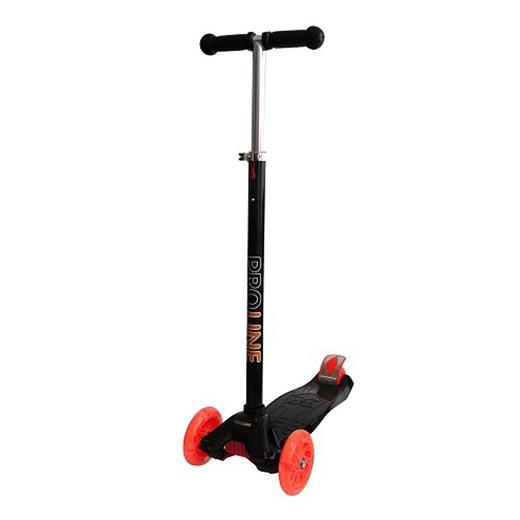 Купить Самокат GT9434 3-х колесный, колеса PU со светом 12/8, черно-оранжевый, Grand Toys, Самокаты детские