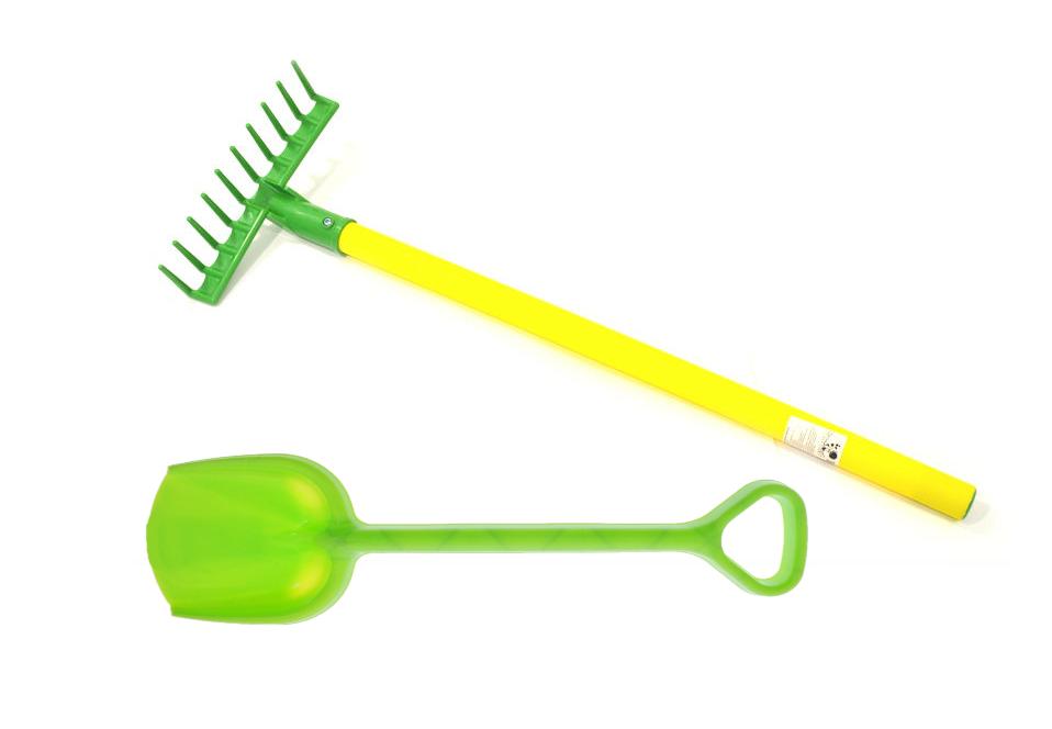 Игровой набор: Лопатка 50 см. (16-5391)+ Грабли детские садовые (15-10932) ZEBRATOYS