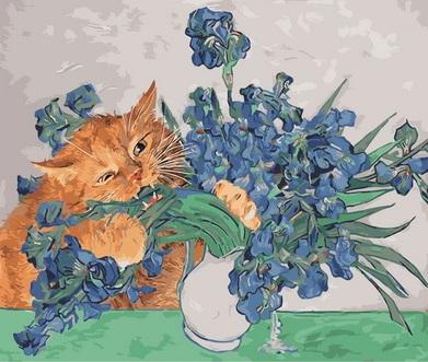 Картина по номерам Paintboy Радость кота GX34003