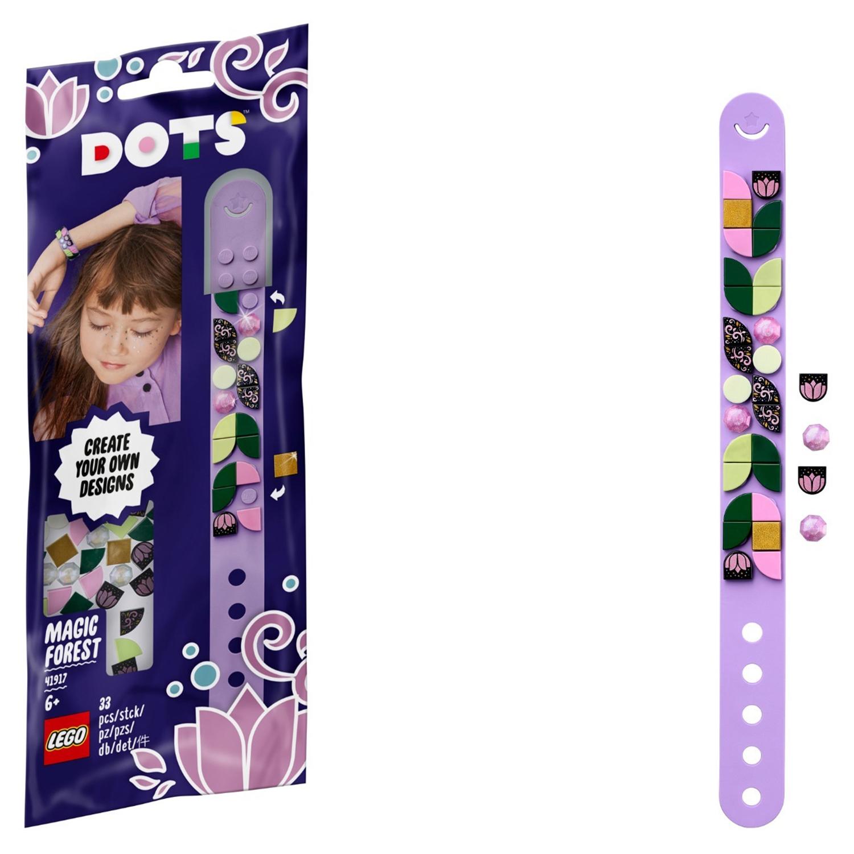 Купить Набор для творчества LEGO DOTS 41917 Браслет Волшебный лес,