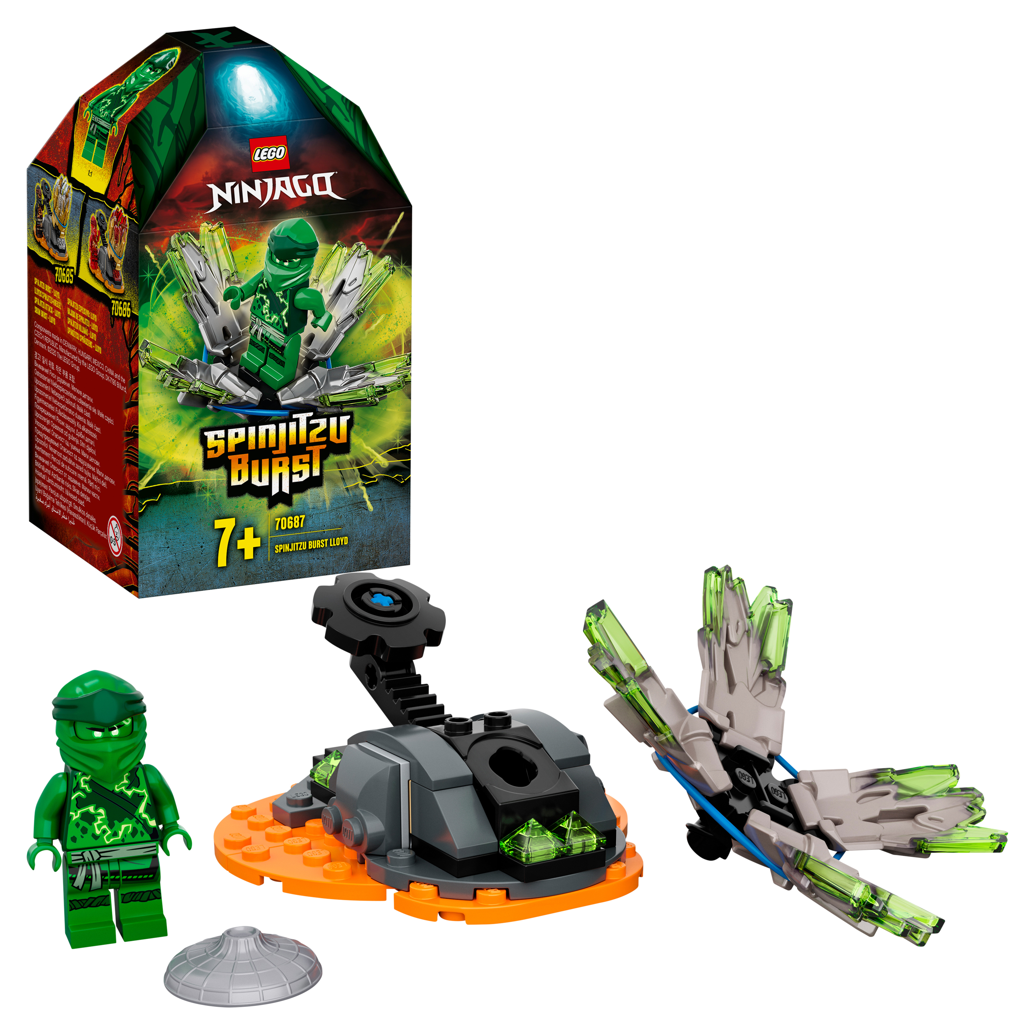 Конструктор LEGO NINJAGO 70687 Шквал Кружитцу — Ллойд