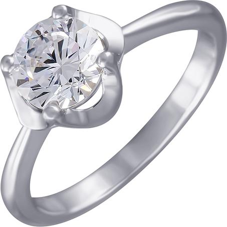 Кольцо женское с фианитами из серебра Джей Ви SL30906A1_001