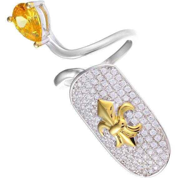 Кольцо женское с фианитами из серебра Джей Ви SL31609B1_001