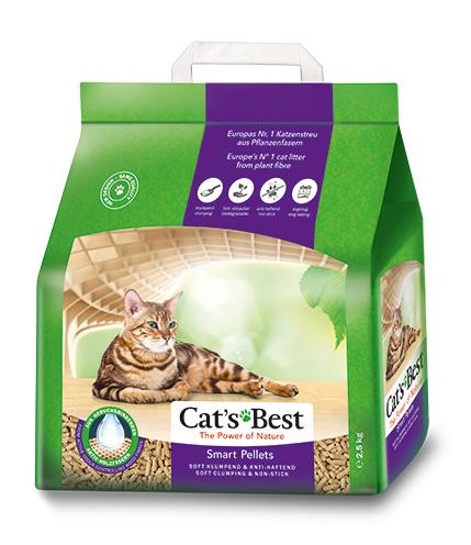 Наполнитель Cat\'s Best Smart Pellets Древесный комкующийся 2,5кг