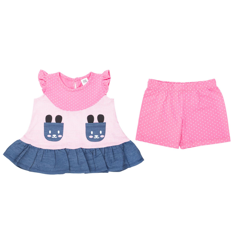 Купить Комплект шорты/туника для детей Fun Time DS211-g2-1-369 мультиколор 74,
