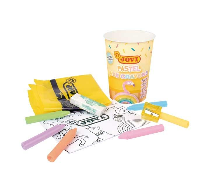 Купить Набор для рисования JOVI Pastel восковые мелки 6 цветов с аксессуарами 980PT,