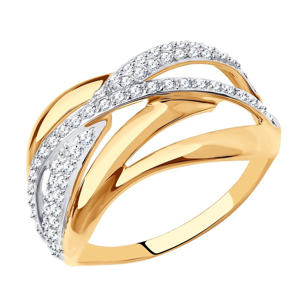 Кольцо из серебра с swarovski р.17,5 SKLV 94013345