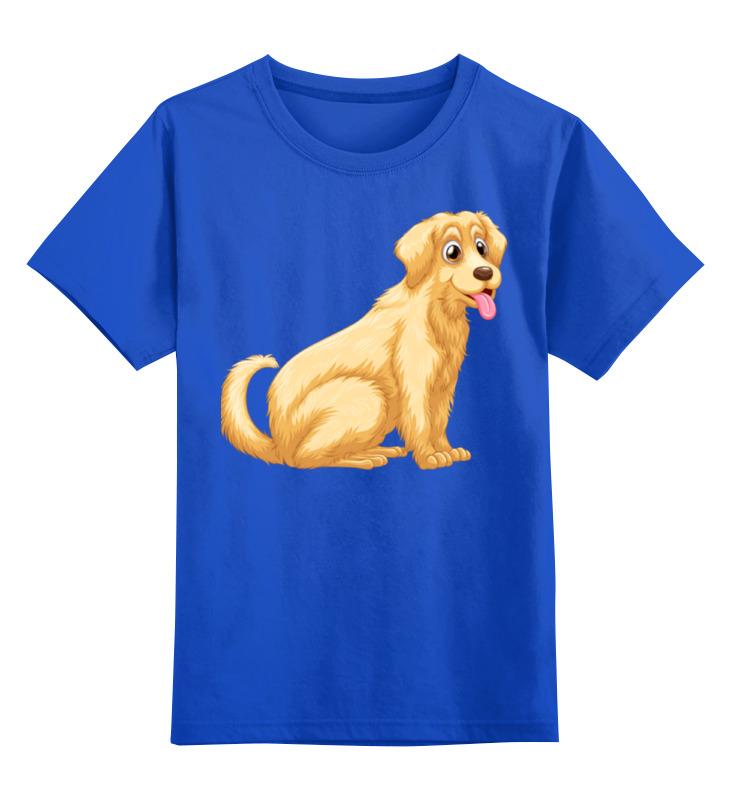 Детская футболка Printio Забавный щенок цв.синий р.152 0000002308554 по цене 990