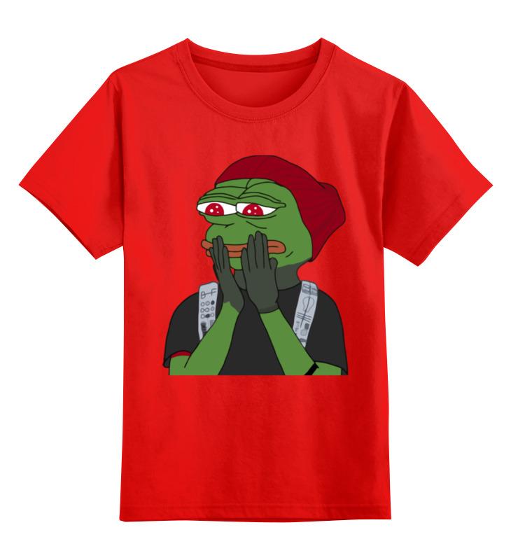 Детская футболка Printio Лягушонок пепе цв.красный р.152 0000002336199 по цене 990