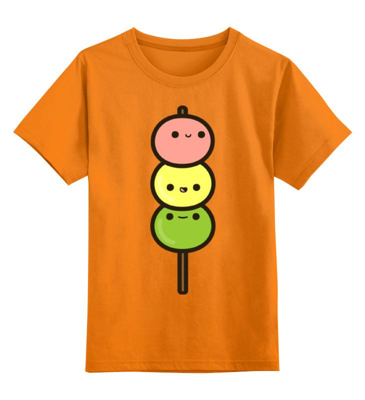 Купить 0000002386723, Детская футболка Printio Мороженое цв.оранжевый р.152,